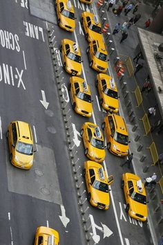 Idea:print out a bunch Of little taxi cabs for each person in senior class and make that the busy streets of New York.