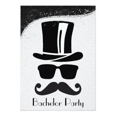 Black and Silver Gay Bachelor Party Invitation