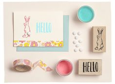 Get all the supplies you need to make your own Easter Bunny Card at Paper Source!