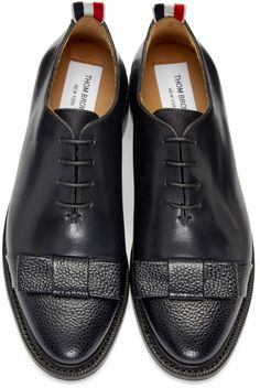 Thom Browne for Women Collection Oxford Shoes Heels, Women Oxford Shoes, Flats, Black Lace Up Shoes, Black Oxfords, Brogues, Thom Browne Shoes, Mens Shoes Boots, Bow Shoes