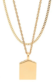 Mister Micro Tomb Necklace - Gold