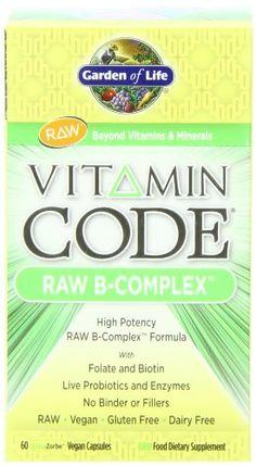 Garden of Life Vitamin Code Raw B-Complex, 60 Capsules Garden of Life http://smile.amazon.com/dp/B00280M12A/ref=cm_sw_r_pi_dp_ez.7tb1W38M7D