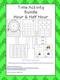 Time Bundle!  Hour and Half Hour Activities! On sale through 10/25