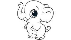 Baby Elephant Coloring Pages Zoo Animal Coloring Pages, Elephant Coloring Page, Truck Coloring Pages, Cute Coloring Pages, Cartoon Coloring Pages, Coloring Sheets, Coloring Books, Coloring Worksheets, Letter Worksheets