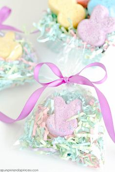 DIY Bunny Bath Bombs - A Pumpkin And A Princess