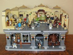 I decided to make my own version of Jabba's palace. It was made from 3 Jabba palaces and 3 Rancor pits and 2 big cups of extra bricks from the Lego store. I...