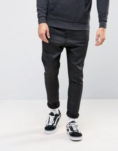 Get this Asos's slim jeans now! Click for more details. Worldwide shipping. ASOS Drop Crotch Jeans In Black - Black: Dropped-crotch trousers by ASOS, Stretch denim, Functional pockets, Drop crotch, Cut lower than a standard crotch, Relaxed fit, Machine wash, 98% Cotton, 2% Elastane, Our model wears a W 32 L 32 and is 6'1�/185.5 cm tall.  (vaquero slim, stretch, fit, ajustado, tapered, estrechos, ajustados, jeans slim fit, jeans slim, jean slim, jeans slim)
