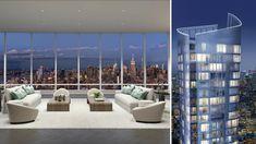 Penthouse For Sale, Us Real Estate, Manhattan New York, Pent House, Luxury Apartments, Condominium, New York City, Skyscraper, Building