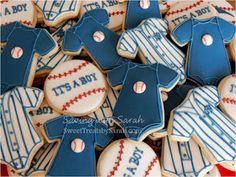 Baseball Baby Cookies