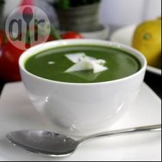 Creamy courgette and spinach soup @ allrecipes.co.uk