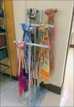 Fligfht of T-Stands in Retail Pos, Ladder Decor, Retail, Shapes, Flooring, Home Decor, Shops, Hardwood Floor, Interior Design
