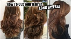 HOW I CUT MY HAIR AT HOME IN LONG LAYERS! │ Long Layered Haircut DIY at ...