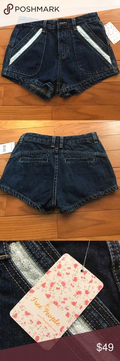 SALEFree People Sweet Surrender Shorts Check out these DARK denim, high-rise, Free People shorts! Size 24. Equivalent to size 0. 100% cotton. Zip fly with button closure. Top stitched detailing! Free People Shorts