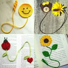 Diy Crafts - Quick and Easy Ways to Crochet a Bookmark - Life ideas Crochet Bookmark Pattern, Crochet Bookmarks, Crochet Flower Patterns, Crochet Books, Crochet Gifts, Cute Crochet, Crochet Motif, Crochet Flowers, Crochet Stitches