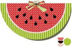 Silhouette Design Store - View Design #9871: watermelon shape card