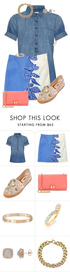 """""""Brave"""" by glittergirlawk ❤ liked on Polyvore featuring Current/Elliott, Lilly Pulitzer, Dolce&Gabbana, Chloé, Cartier, Bony Levy and Michael Kors"""