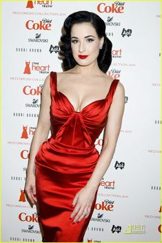 Dita Von Teese: Red Dress for the Heart Truth Show! / Snow White inspired Fashion