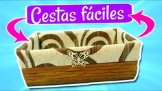 DIY CESTAS FÁCILES EN MINUTOS. - YouTube