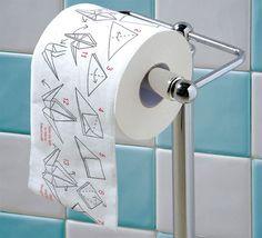 origami toilet paper: cool idea!