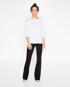 Image 1 of TOP WITH RUFFLED SLEEVES from Zara