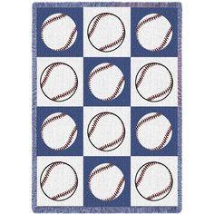 Baseballs Art Tapestry Throw