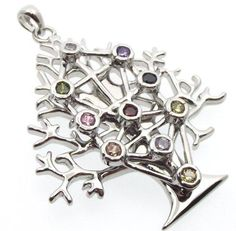 Chakra Tree Of Life Kabbalah Pendant