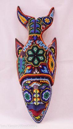 Huichol fish mask