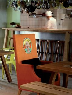 'Mama' is on the chair backs - Image: Mama Shelter Marseille