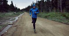 male runner in winter