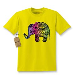 Colorful Elephant Graphic Kids T-shirt