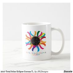 Total Solar Eclipse Painted White Mug