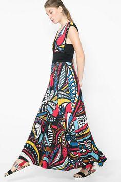 Long dress with flared skirt | Desigual.com