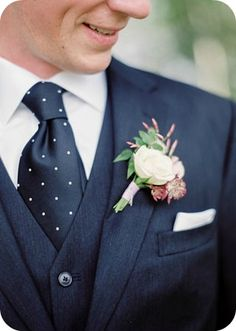 Navy and Polka Dot Groom - Emily Steffen Photography