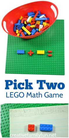 What do you get when you combine LEGOs with math? A really fun LEGO math game for kids!