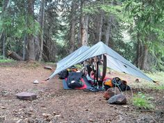 Why not? Bikepacking campsite, seems really comfy to me :)