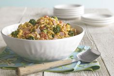 This pasta salad is a perfect dish to bring for a gathering.