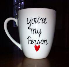 Grey's Anatomy You're My Person Coffee Mug -Cursive on Etsy, $8.00