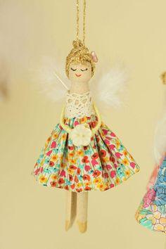 Wooden Peg Doll Fairy Liberty Print