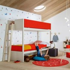 Funky Bunk Beds for Kids Find the best kids online. Our store offers a wide variety of aesthetically designed kid's bedroom furniture that includes modern kid's bedroom and for Kids. Italian Bedroom Furniture, Childrens Bedroom Furniture, Kids Room Furniture, Kids Bedroom, Furniture Online, Bedroom Ideas, Cama Junior, Funky Bedroom, Fold Down Beds