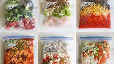 8 Best Crock-Pot Freezer Meals | Eat This Not That Slow Cooker Chicken Tacos, Slow Cooker Freezer Meals, Crock Pot Freezer, Healthy Freezer Meals, Dump Meals, Slow Cooker Recipes, Crockpot Recipes, Freezer Recipes, Freezer Cooking