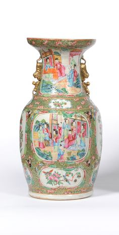 Tennants Auctioneers: A Chinese Porcelain Canton Decorated Baluster Vase