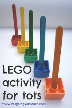Lego Color Matching and Fine Motor Activity