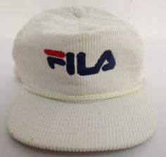 FILA HAT CAP ZIPBACK VINTAGE RETRO CREW MENS AMAPRO VTG CLOTHES CORDUROY  TRUCKER  AMAPRO   a36dcf285209