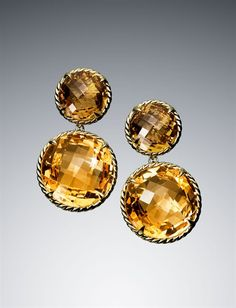 Two-drop citrine chatelaine earrings. yummy.