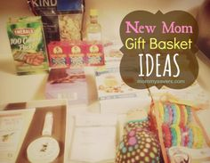 Ideas for things to put in a care package for a new mom