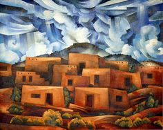 """""""The Village that Once Was"""", oil on canvas, Tony Abeyta"""