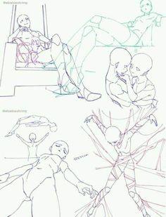 Drawing Base, Manga Drawing, Drawing Sketches, Art Drawings, Figure Drawing Reference, Art Reference Poses, Poses References, Art Poses, Anime Sketch