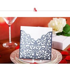 YUFENG Laser Cut Wedding Invitations Cards Kits for Marriage Engagement Birthday Bridal Shower black ii 60pcs -- You can get additional details at the image link.-It is an affiliate link to Amazon. #WeddingInvitationCards