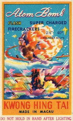 Atom Bomb C2  40's Firecracker Pack Label | by Mr Brick Label