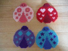 Tissue Box Cover Lovely Ladybugs Coaster Set by ShanaysCreation